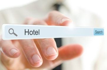Word Hotel written in search bar